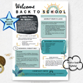 Back to School Distance Learning, Welcome Back to School Letters EDITABLE, Class