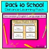 Back to School Distance Learning for ELA   Digital Learnin