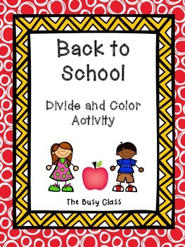 Back to School Divide and Color Activity