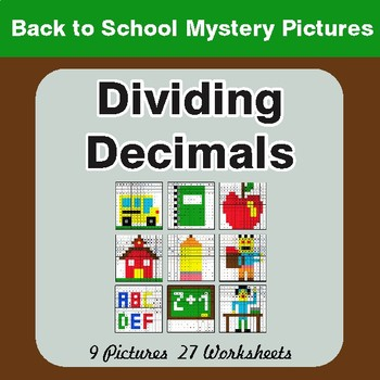 Back to School: Dividing Decimals - Color-By-Number Math Mystery Pictures