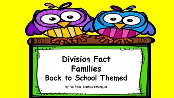 Back to School Division Fact Practice