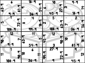 Back to School Division Puzzles