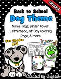 Back to School Dog Theme {Editable}
