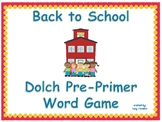 Back to School Dolch Pre-Primer Word Game