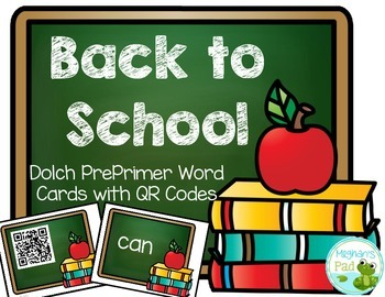 Back to School Dolch PrePrimer Words