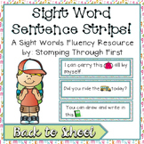 Sight Word Sentence Strips: Back to School Set