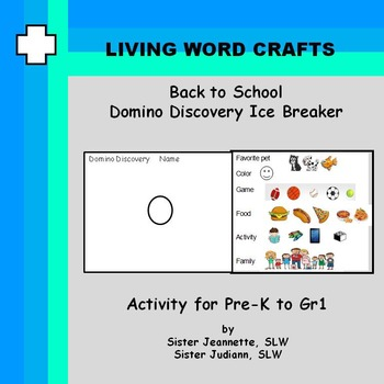 Back to School Domino Discovery for Pre-K to Gr1