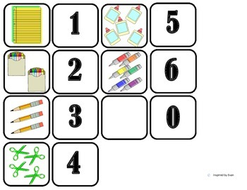 """Back to School"" Domino Math for Autism"