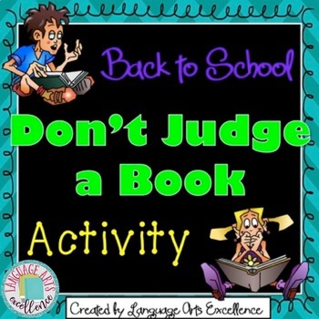 """Back to School """"Don't Judge a Book by its Cover"""" Activity"""