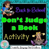 "Back to School ""Don't Judge a Book by its Cover"" Activity"