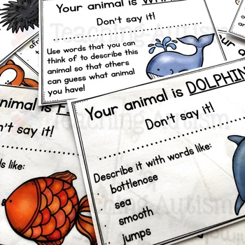 Back to School Don't Say It ANIMAL Ice Breaker Game