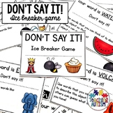 Back to School Don't Say It Ice Breaker Game