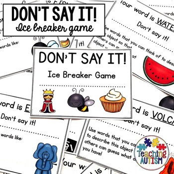 Back to School Don't Say It! Ice Breaker Game
