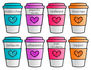 Back to School Donations Wishlist-Coffee Cup Edition