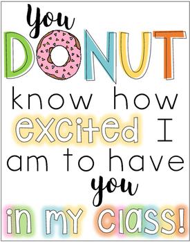 Back to School Donut Display