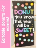 Editable Back to School-Donut Door Display or Bulletin Board
