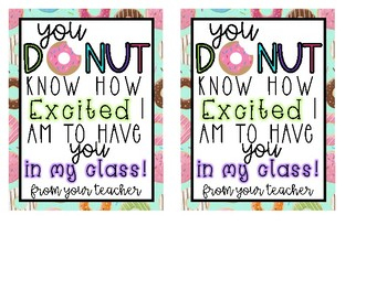 Back to School Donut Gift Tag