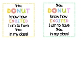Back to School Donut Tags