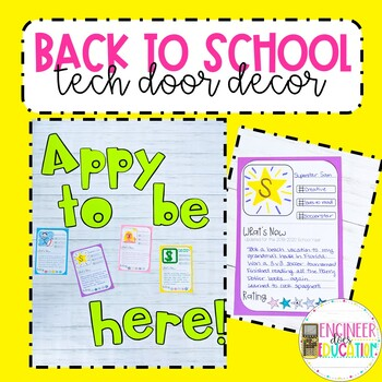"""Getting to Know You Activity: Technology themed """"Appy to be back"""""""