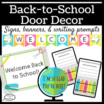 Back to School Door Décor Kit with Writing Prompts