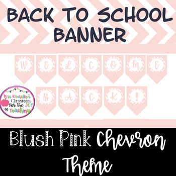 Welcome Back Banner! Shabby Chic Back to School Printable