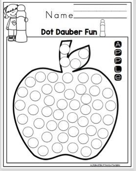 Back to School Dot Dauber Fun