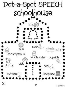 Back to School Dot a Spot Speech Therapy Poke Art Craft