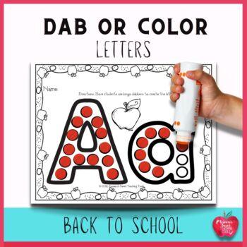 Alphabet Worksheets for Back to School