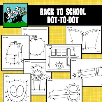 Back to School Dot to Dot / Connect the Dots