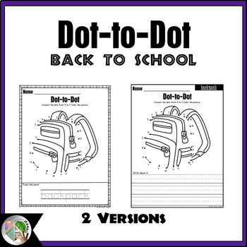 Back to School Dot-to-Dot / Connect the Dots