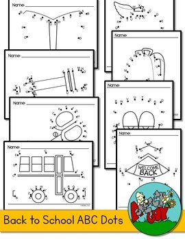 Back to School Dot to Dot / Connect the Dots A-Z