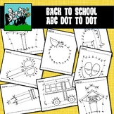 School / Back to School Dot to Dots Alphabet A-Z