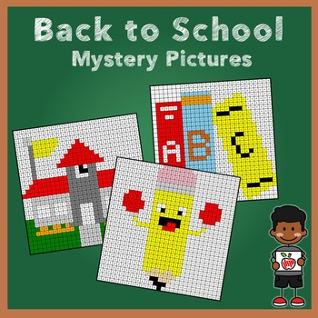 Back to School Double Digit Addition Mystery Pictures