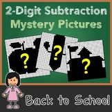 Color-By-Number Double Digit Subtraction Worksheet Back To School Activity Pages