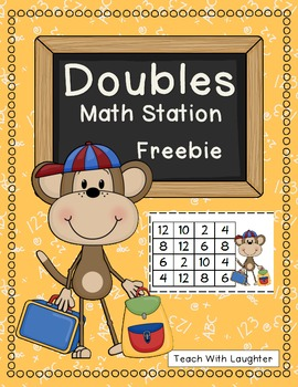Back to School Doubles Math Station {Freebie}