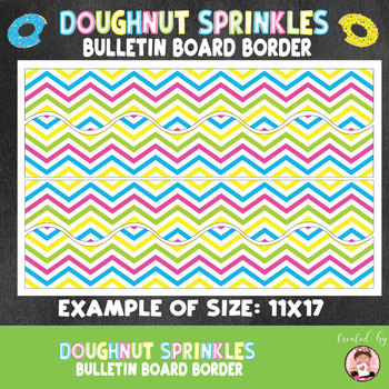 Back to School Doughnut Sprinkles Themed Bulletin Board Border