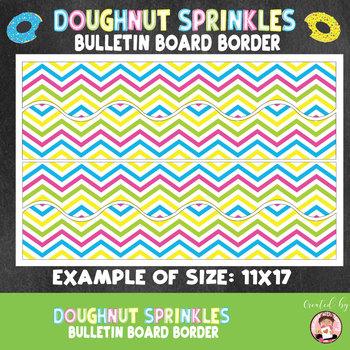 Back to School Doughnut Sprinkles Bulletin Board Border