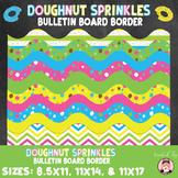 Back to School Doughnut Sprinkles Themed Bulletin Board Border