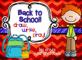Back to School: Draw, Write, Pray!