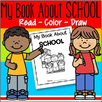 back to school draw and color book  activity printables for preschool and prek