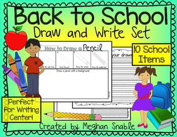 Back to School- Draw and Write- Writing Center