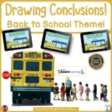 Back to School Drawing Conclusions Digital & Printable Task Cards