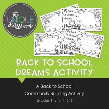 Back to School Dreams Activity