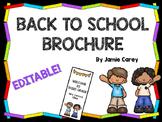 Back-to-School EDITABLE Brochure