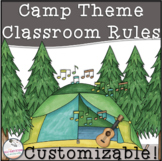 Back to School EDITABLE Classroom Rules (Camp Theme)