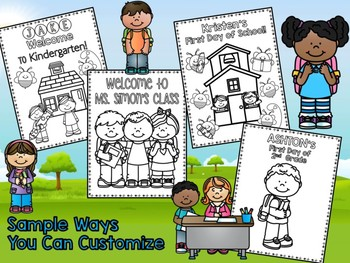 Back to School EDITABLE Coloring Pages - The Crayon Crowd
