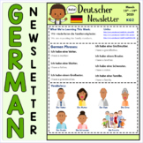 Back to School -EDITABLE- German Language Newsletter