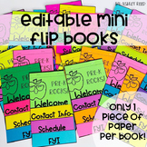 Back to School EDITABLE Mini Flip Book
