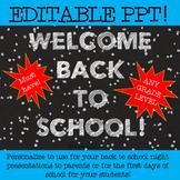 Back to School EDITABLE POWER POINT - Chalkboard Design!