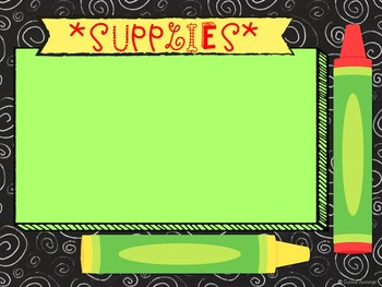 Back to School EDITABLE POWER POINT - Chalkboard Design!